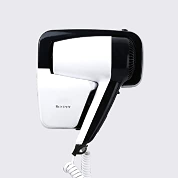 Hair dryer Secador de Pelo Inicio Secador de Pelo de Pared de Baño Hotel Anion Secador de Pelo de Alta Potencia Mini 1200W (Color : Black): Amazon.es: Hogar