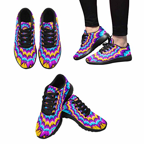Women's Sneaker Easy Walking Lightweight 14 Running Go InterestPrint Multi Shoes Jogging fqdf1