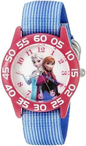 Disney Infinity Kids' W002504 Frozen  Elsa & Anna Analog Display Analog Quartz Blue Watch