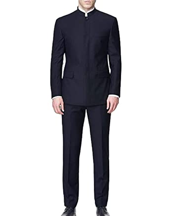 ae8ec7eb2 Fitty Lell Men's Suit 2 Pieces Slim Fit Wedding Suits Blazer Chinese Style  Custom Made at Amazon Men's Clothing store: