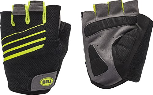 Bell Ramble 500 Performance Cycling Half Finger Gloves, Small/Medium, Black/Hi Vis