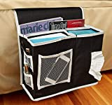 GLIN Bedside Caddy Hanging Storage/Organizer with Laptop Space – Perfect for College Dorm Rooms and Bunk Beds – Large Size Holds Your Laptop, Books, Tablet, Phone, Water Bottle, and More