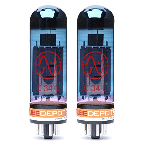 Pair of JJ E34L Blue Glass Power Vacuum Tube