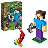 LEGO BigFig Minecraft™: Steve con Loro Minecraft (21148) Juguete de Construccion para Niños