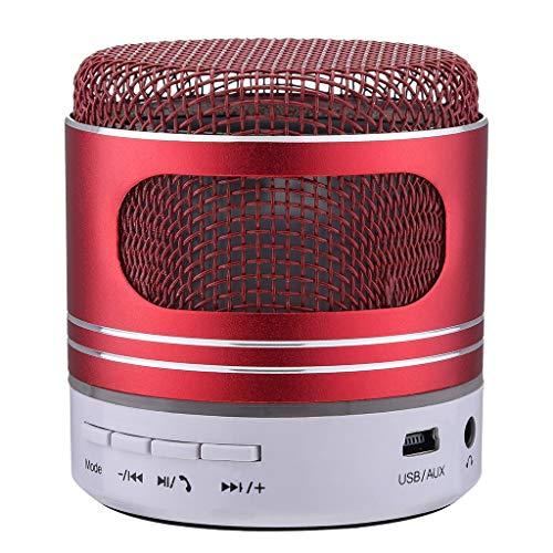 (Mini Bluetooth Speaker USB Led Light Wireless Portable Music Box Subwoofer Small)