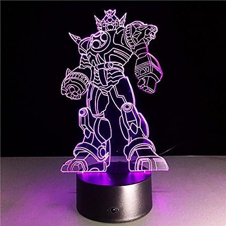 Cool Anime Transformation 3D Lámpara Niños Juguetes Figuras de ...