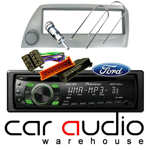 FORD KA SILVER COMPLETE FITTING KIT AND PIONEER CAR STEREO - Includes a Pioneer MP3 Player, Silver Facia Adapter, Removal Keys, Aerial Adapter and ISO wiring harness.: Amazon.co.uk: Electronics