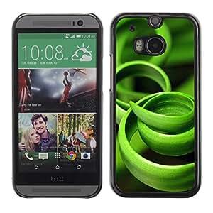FECELL CITY // Duro Aluminio Pegatina PC Caso decorativo Funda Carcasa de Protección para HTC One M8 // Grass Green Black Nature