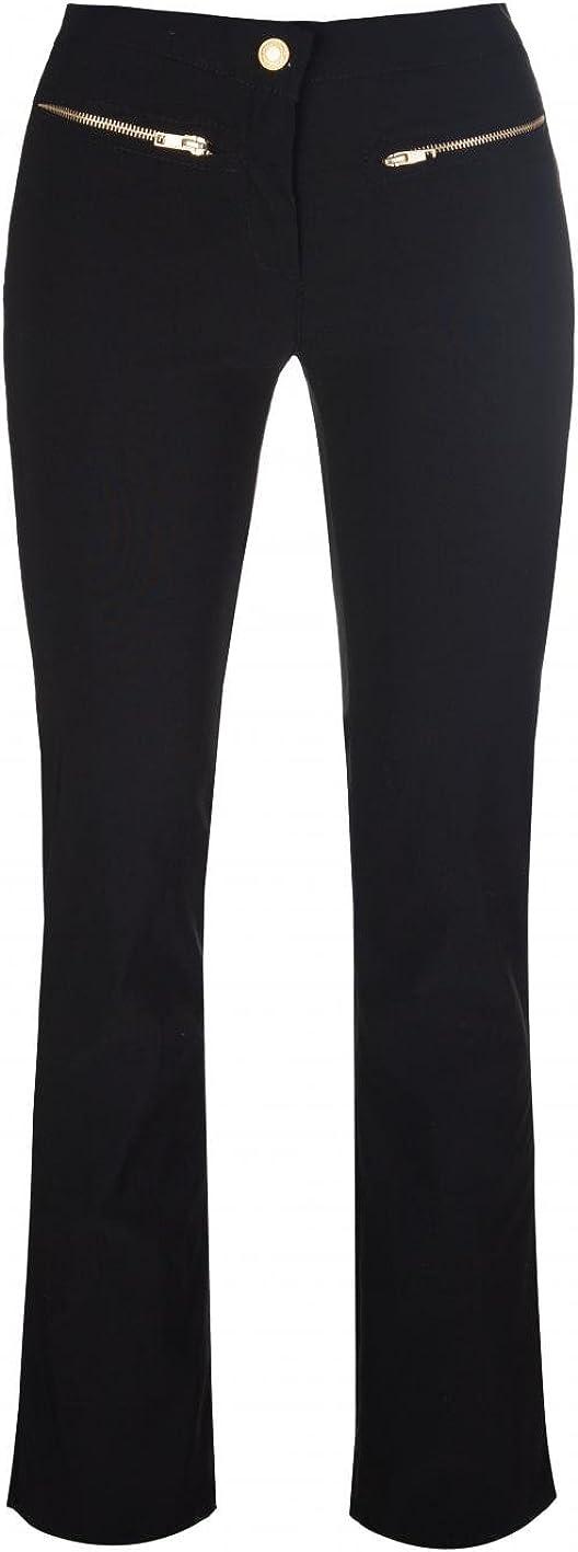 Miss Sexies Gold Zip Skinny Leg Black Girls School Trousers Ladies Stretch Hipster Miss Chief