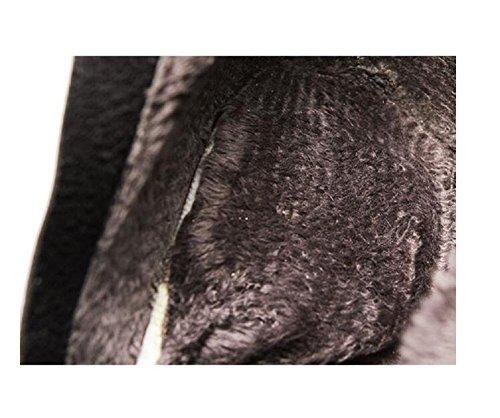 Scarpe 37 yellow inverno alto nudo stivali a 35 tacco pizzo con stivaletto aguzzo dolce pelle spillo 6rx6qnwp