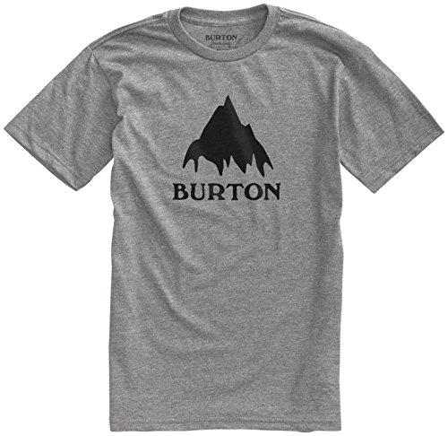Burton Lightweight Top - Burton Classic Mountain High Short Sleeve Tee, Gray Heather, X-Large