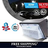 LEDMYPLACE LED 80W Wall Pack Fixture, 350-400W HPS/HID Replacement, 5700K, 10,173 Lumens, Waterproof and Outdoor Rated,