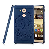 Huawei Ascend Mate 8 Case , Lwang Shockproof Ultra Slim Soft Silicone Protective Case for Huawei Ascend Mate 8 Case (3d blue)