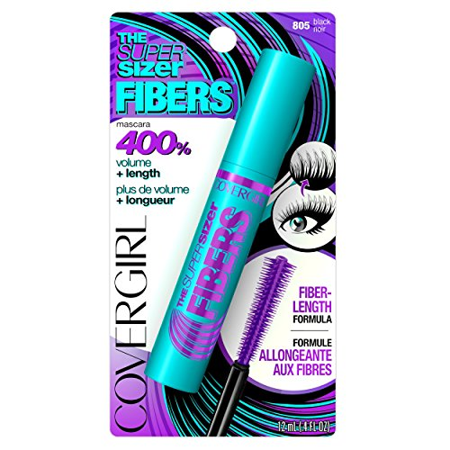 COVERGIRL The Super Sizer Fibers Mascara Black 805, .4 oz