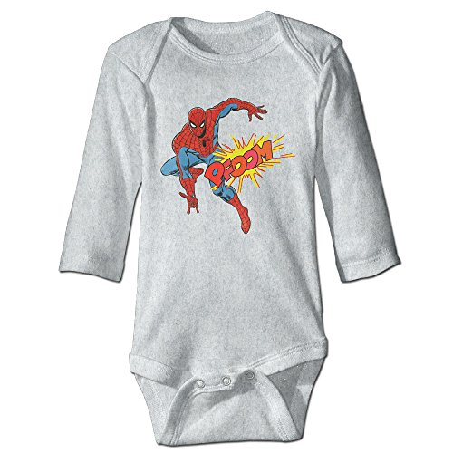 Spiderman Cute Baby, Kid Long Sleeve Rompers Jumpsuit Cotton (The Amazing Spider Man 2 Suit For Kids)