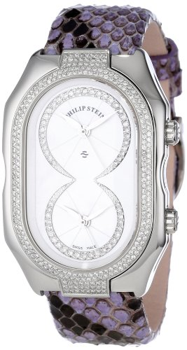 Philip Stein Women's 11DP-IDW-PPPL Prestige Diamond Purple Python Strap Watch