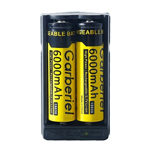 imydeal US Stock 4 PC 6000 mAh Li-ion 18650 3.7V Button Top Rechargeable Battery + 2X Smart Charger