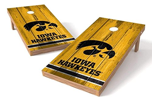 PROLINE NCAA College 2' x 4' Iowa Hawkeyes Cornhole Board Set - Vintage - Iowa Hawkeyes Ncaa Bean Bag