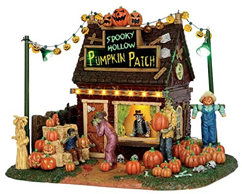 Lemax Spooky Town Spooky Hollow Pumpkin Patch Battery Operated # 54902 by Lemax