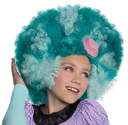 Rubies Monster High Frights Camera Action Honey Swamp Wig, Child (Halloween Costumes Monster High For Kids)