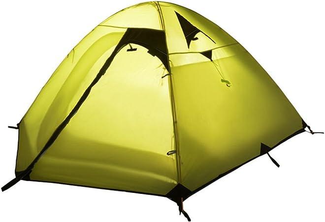 WENTAO Tienda para Camping 3 Personas Doble Layernylon 210T ...