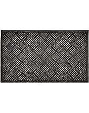 Textures Crosshatch Entrance Mat, 3-Feet by 5-Feet, Charcoal