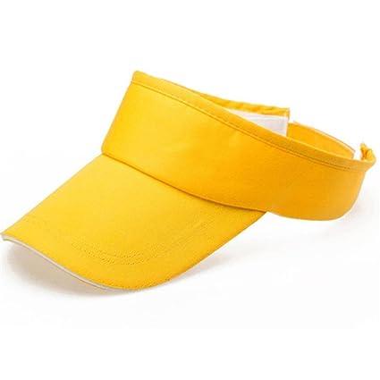 RETUROM Hombres o mujeres visera de verano Sun Sombrero Plain Gorras ( amarillo) 279935aa77b