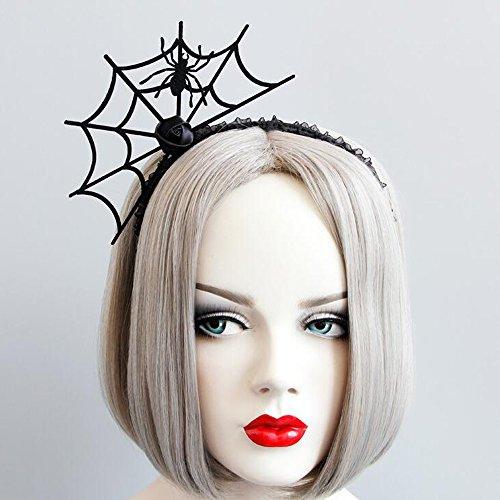 (Missgrace Women Halloween Spider Web Ghost Festival Headband Women Party Halloween Hair Accessories Women Hair)