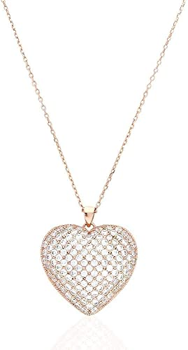 Sterling Silver 925 Hollow Rose Gold Heart Pendant Charm Love Jewellery Making