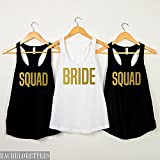 Bride shirt,Bride squad shirts, SQUAD bachelorette shirts, bride's squad tanks, bachelorette party shirts,gift for her