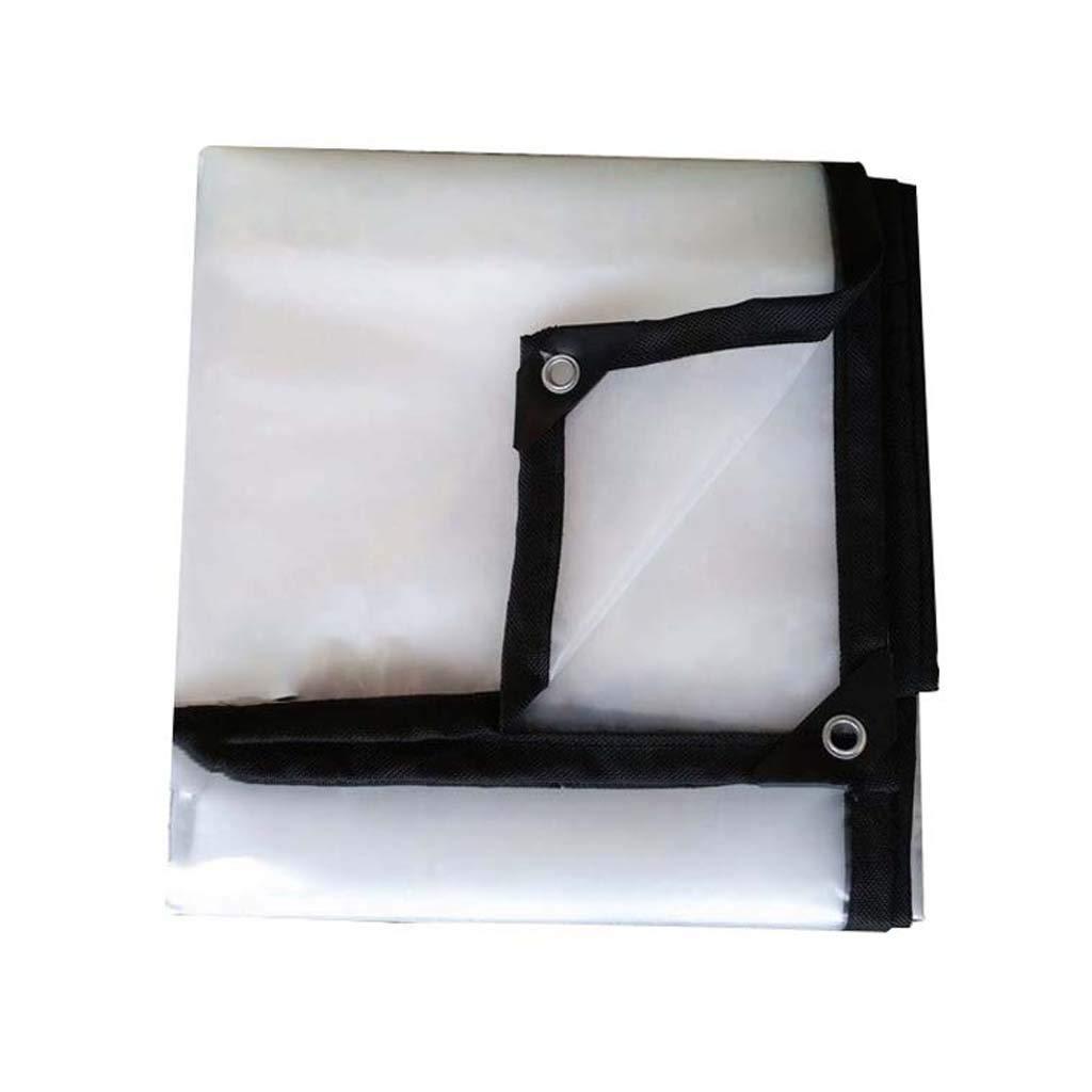 HUYYC グロメット付き透過性防水シート、透明な防水シート ターポリン 多目的タール 防水ポリタプカバーリップアンドティア耐性,5x6m/15x18ft B07L6BGCYQ  5x6m/15x18ft