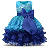 #6: NNJXD Girl Ruffles Vintage Embroidered Sequins Flower Wedding Dress