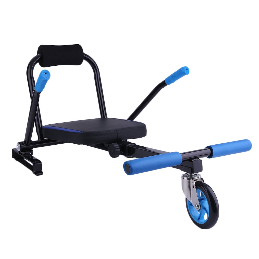 Nexttechnology Hover Kart Self Balance Scooter, Drifting Mini Cart Conversion Kit 6.5'' Hoverboard Cart Accessories for Off-Road Go-Karting, Hover Board Not Included (Blue)