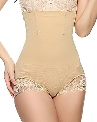 Junlan Women's Butt Lifter Shaper Seamless Tummy Control Hi-waist Thigh Slimmer
