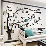 yaode 3D Picture Frames Tree Wall Murals Huge Size Family Photo Frame Wall Decals Art Stickers for Home Kitchen Bedroom Living Room Decor (Style4, M)