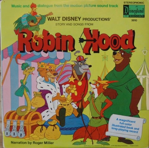 Walt Disney Productions' Story and Songs from Robin Hood [LP Record] by Walt Disney (1973)