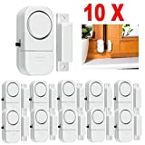 Yeefant 10PCS Convenience Installation Stability Wireless Home Security Door Window Entry Burglar Alarm System Magnetic Sensor, Dustproof and Insect Prevention, 2.5 x 1.3 x 0.8 Inch, White