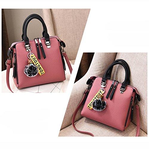 Fashion Bag Rubber Female Shoulder Korean Bag Lady Bag Version Spring Messenger Pink q70x7Ew6