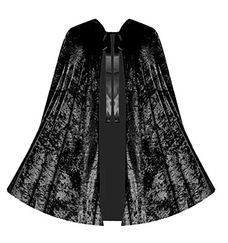 [Victorian Vagabond Gothic Game of Thrones Renaissance Steampunk Velvet Capelet Black] (Steampunk Gypsy Costume)