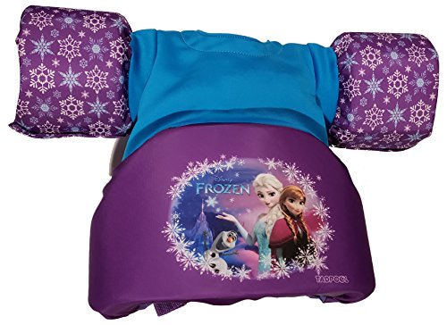 Disney Frozen Child TadPool Life Vest with SPF 30 Rashguard that Provides High Level Sun Protection, Best For Children Weighing 30-50 lbs.