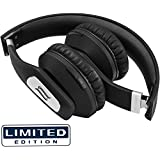 Noontec ZORO II Wireless Headphones Premium Sound On-Ear Miniaturized Foldable Apt-X 35-Hour battery life Carbon Fiber Carry Case (Volcanic Rock, Limited Edition)