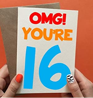 16th Birthday Card Boy Son Gift