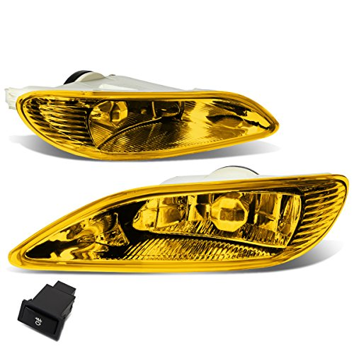 (For Camry/Corolla Pair of Bumper Driving Fog Lights + Wiring Kit + Switch (Amber Lens))