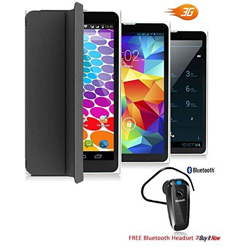 Indigi Android 6.0 Marshmallow Tablet PC & Phone - + BH320 headset - 7'' - Black by Indigi