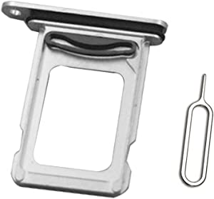 Dual SIM Card Tray Holder Slot + Eject pin Compatible with iPhone 11 Pro Max A2218 A2161 A2220 6.5inch Silver