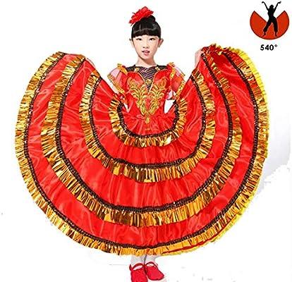 SMACO Disfraz de Bailarina española para niños Bailarina de ...