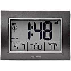 Chaney Instruments 75065A2 AcuRite Atomic Alarm Clock with Time / Date / Temperature 13131 (Chaney Instruments 75065A2)
