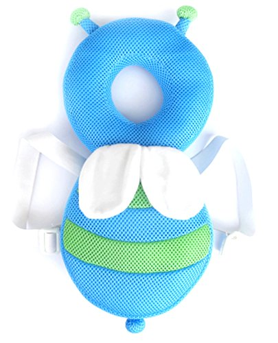 Honeybee Design Baby Infant Head Guard Adjustable Shoulder Safety Cushion Pad Protector Body Support (Honeybee,Summer C)