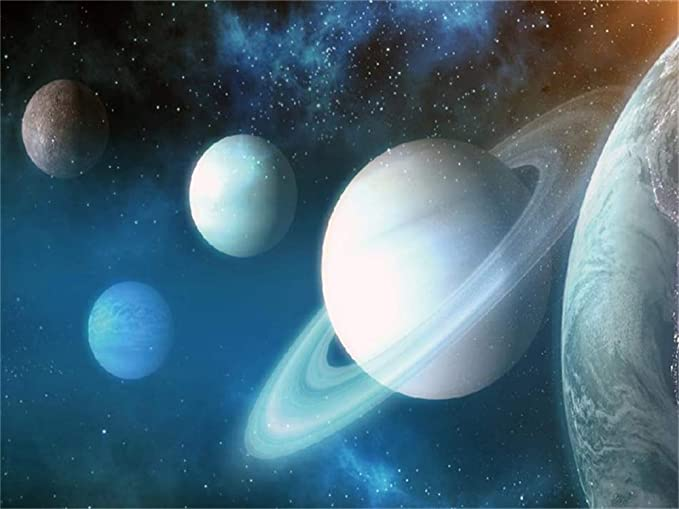 7x7FT Vinyl Photography Backdrop,Outer Space,Celestial Mystery Theme Photoshoot Props Photo Background Studio Prop