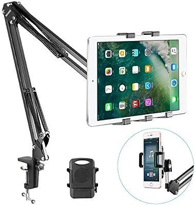 1x Desktop Stand Lazy Tablet Holder Mount Bracket for iPad Mini Samsung Black ZH